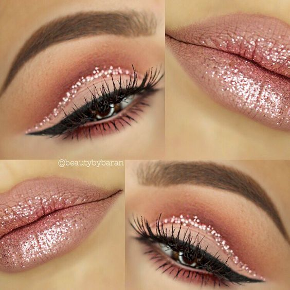 Maquillaje de ojos con glitter para quinceañeras http://ideasparamisquince.com/maquillaje-ojos-glitter-quinceaneras/ Makeup with eyes glitter for fifteen years #ideasparaquinceañeras #maquillaje #Maquillajedeojosconglitterparaquinceañeras #quinceañeras #tipsdemaquillaje #xvaños