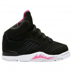 201c4355e92924 jordan retro 5-girls  toddler-basketball-shoes-black deadly  pink white-sku 25172029