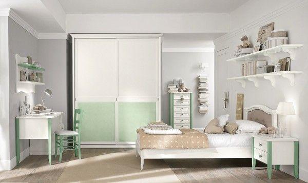 White mint girls room voor meer kinderkamer inspiratie kijk ook