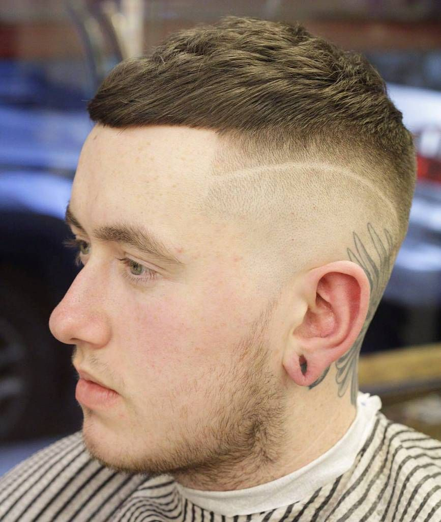 Short Crop Surgical Line Very Short Haircuts For Men Pinterest