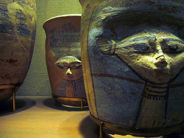 Hathor- blue-painted ware vessel from Malkata by ggnyc, via Flickr