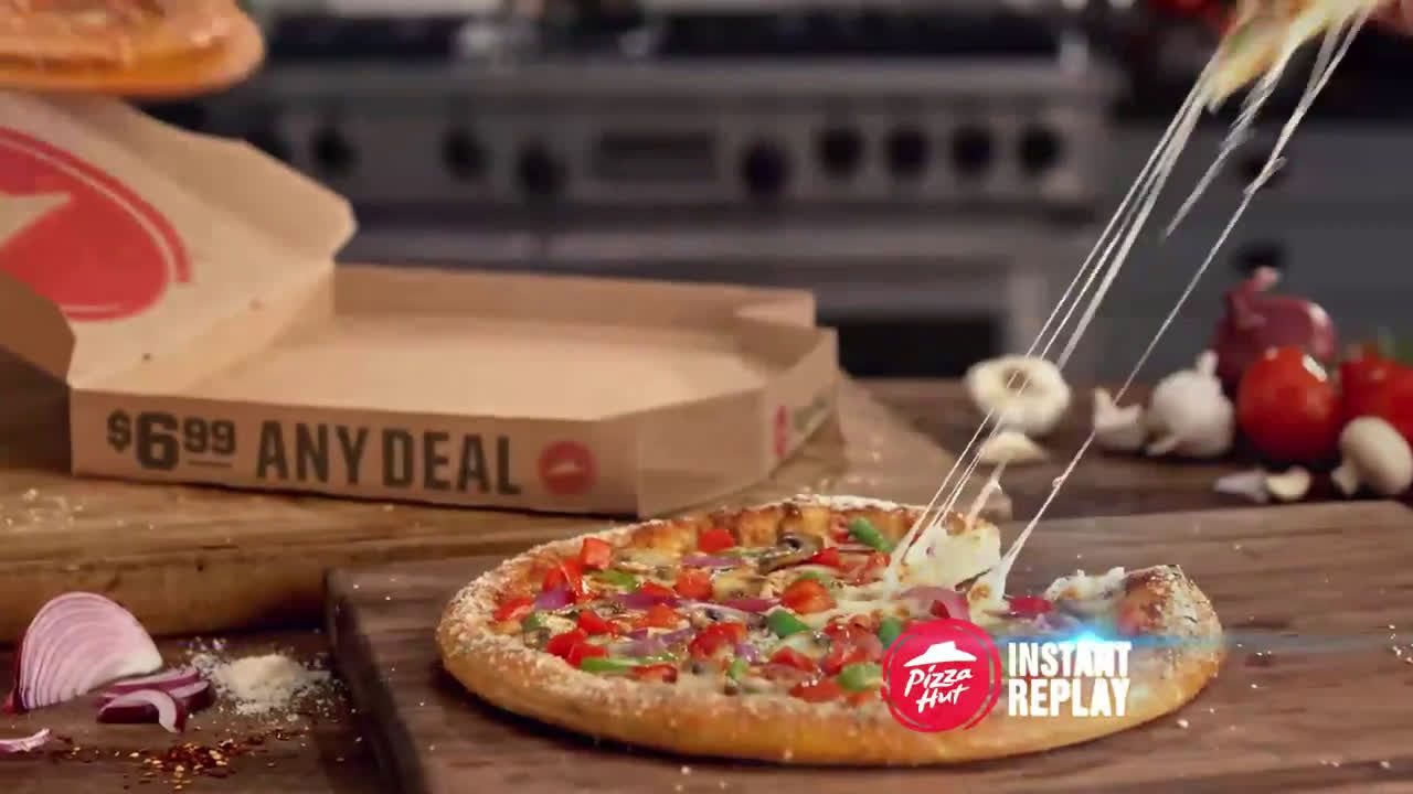 AbanCommercials: Pizza Hut TV Commercial  • Pizza Hut advertsiment  • $6.99 Any Pizzas - Instant Replay • Pizza Hut $6.99 Any Pizzas - Instant Replay TV commercial •