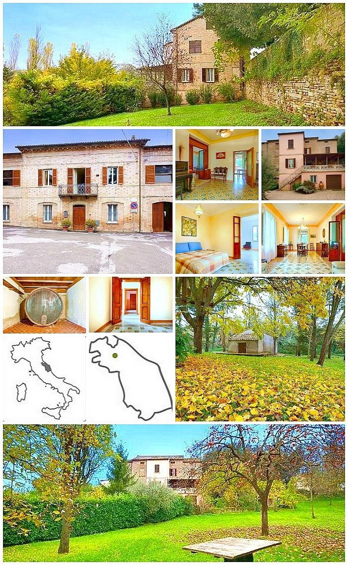 Indipendent Townhouse with Garden for sale in Le Marche