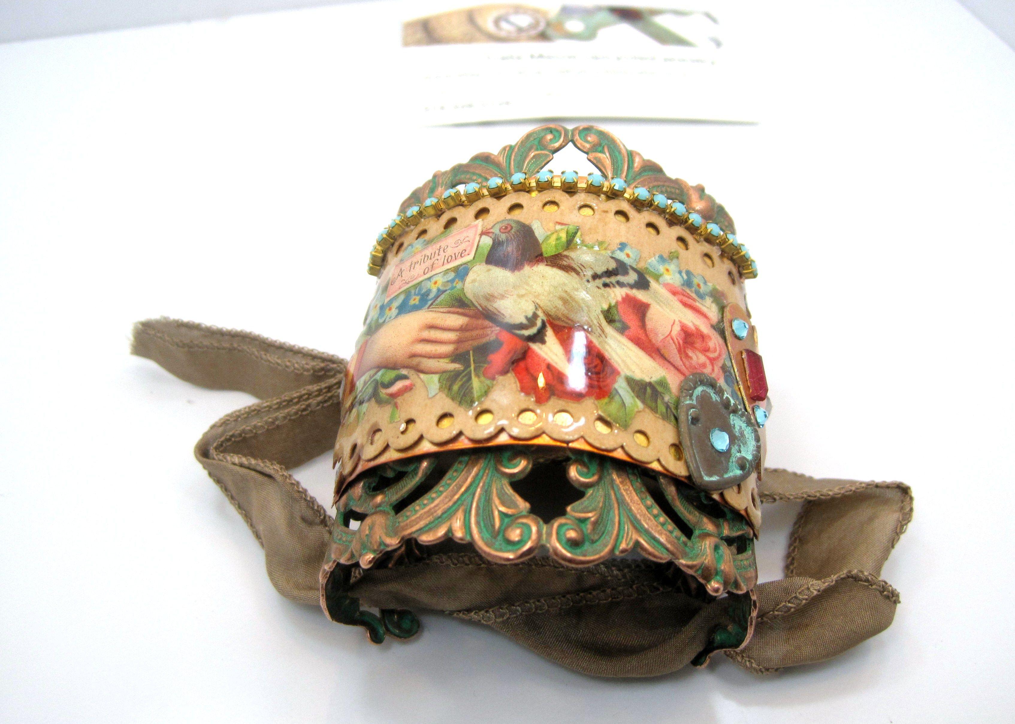 vintage ephemera cuff with B'sue base