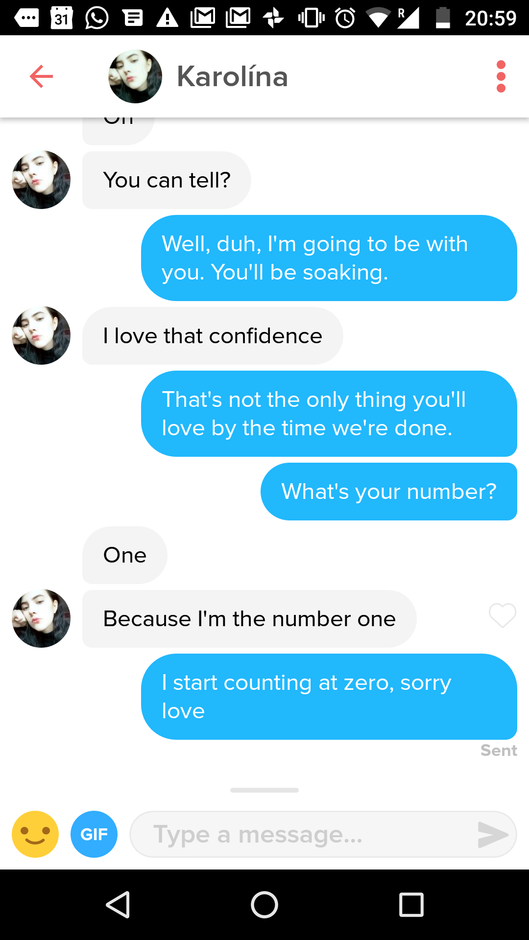 Tinder sexting conversations