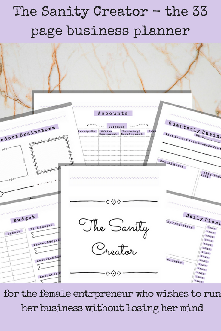 pdf printable business planner a4 a5 letter monthly planner