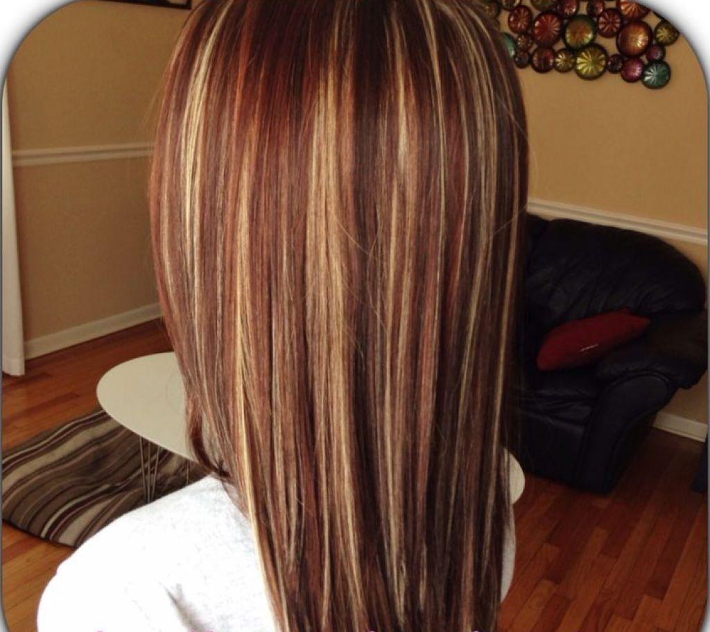 Braune haare mit roten highlights