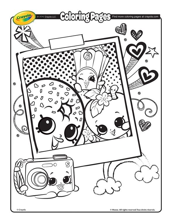 Shopkins Shopkins Selfie On Crayola Com Crayola Coloring Pages