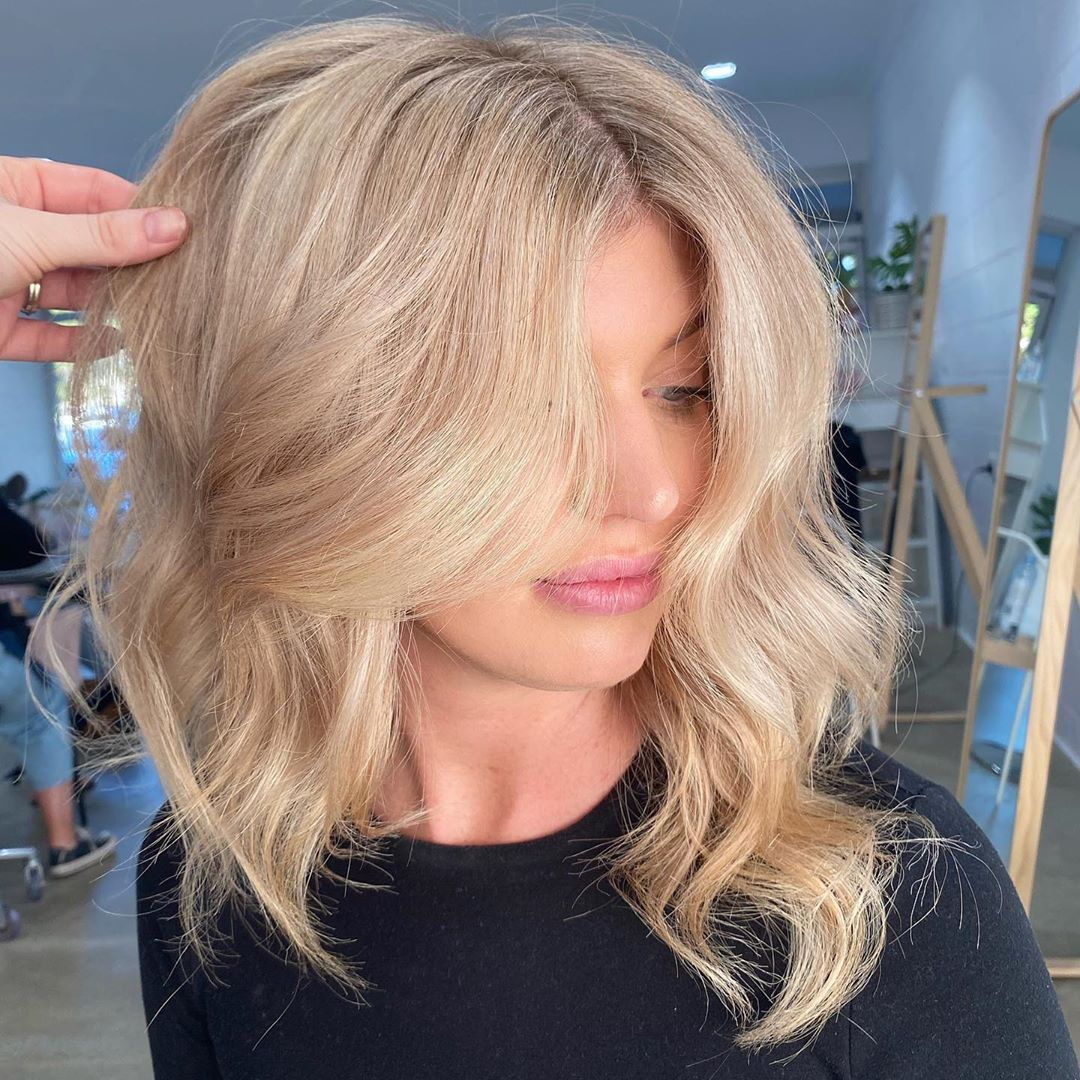 """@lavenderblondehair shared a photo on Instagram: """"Obsessed with you @tayb____ 💕 Hair by @tiahn_lavenderblondee . . #lavenderblonde #lavenderblondehair #livedinblonde #moneypiece…"""" • Jun 25, 2020 at 9:02am UTC"""