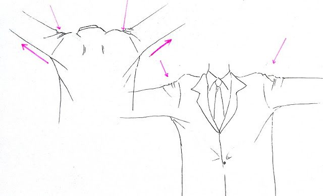 Cara Menggambar Jas Suit Mayagami Cara Menggambar Gambar Sketsa