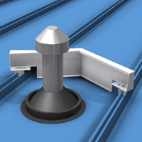 The Snow Diverter Mounts Onto Metal Roof Panel Ribs Without Making Holes Leaks And Prevents Damage To Roof Penetrati Metal Roof Panels Metal Roof Roof Panels