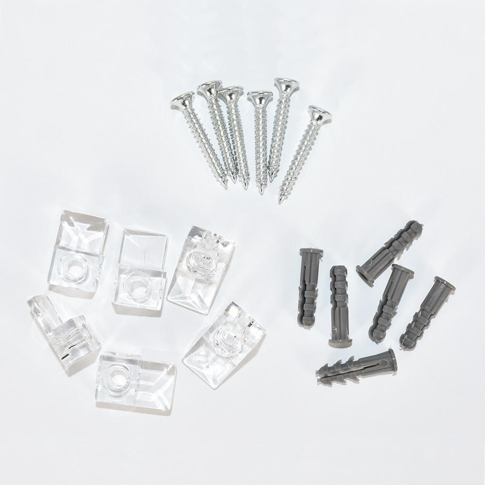 Masterpiece Decor Plastic Mirror Mounting Clips 6 Pack 82001 The Home Depot Mirror Clips Mirror Glass Mirror