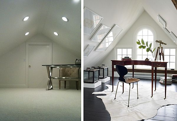 Your decorating dilemmas solved sloped ceiling attic for How to decorate slanted ceilings
