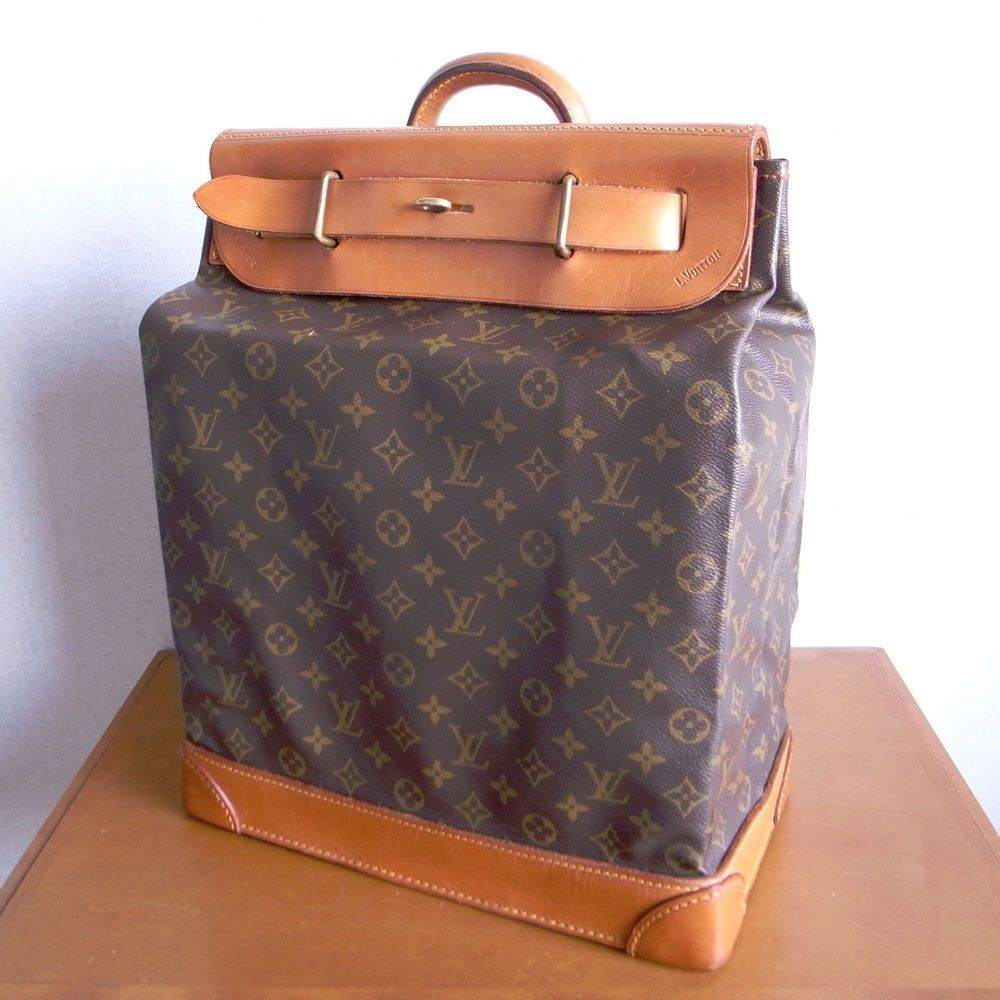 Auth LOUIS VUITTON Steamer Bag 35 Monogram Vintage Luggage 258aa7b764777