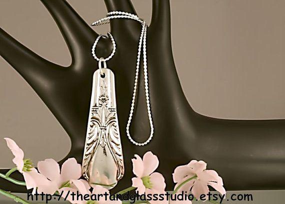 Silver Spoon Pendant Avalon aka Cabin by by theartandglassstudio, $15.99