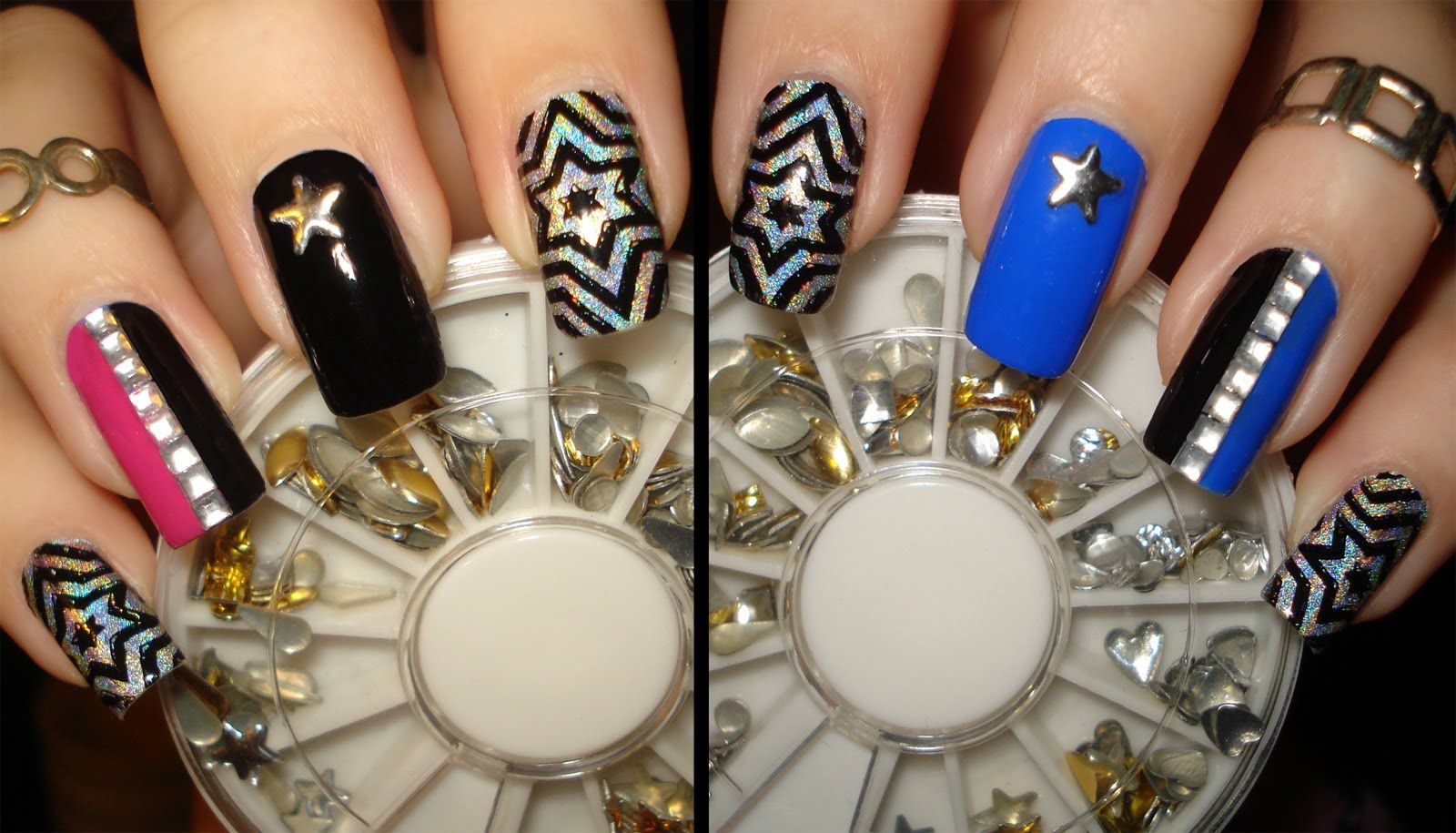 Star Studded BPS Bling New Years Nail Art Design Tutorial - 2 Fun ...