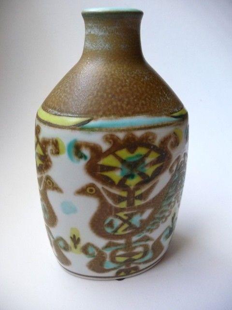 Danish Modern Royal Copenhagen Faience Porcelain Vase - Nils Thorsson. $85