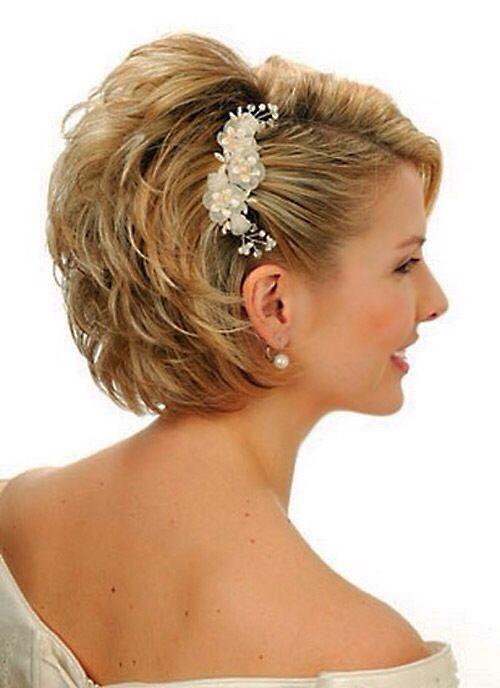 Wedding idea for short hair