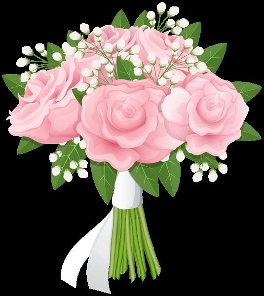 Rose Bouquet Free Png Clip Art Image Flower Bouquet Png Pink Flower Bouquet Flower Clipart