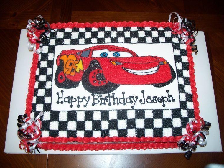 Disney Cars Birthday Cake: Children's Birthday Cakes...I Like The Red