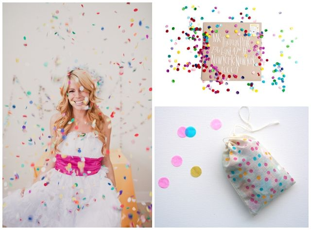 Modern Confetti Wedding Inspiration Ideas Confetti, Confetti ideas - confeti