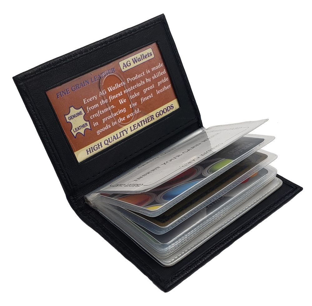 Genuine soft lambskin leather 16 plastic inserts for