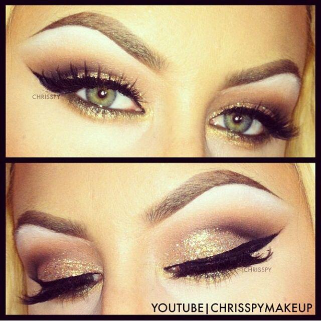 chrispy makeup gold tones smokey eyes - Chrispy Halloween