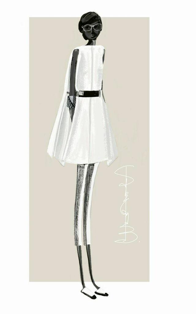 Fashion Sketch - chic fashion illustration // Stefania Belmonte