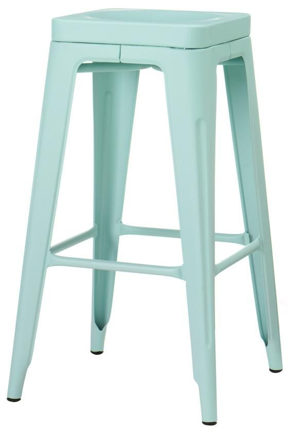 Classic Authentic American Diner Style Retro Stools At Kitchen