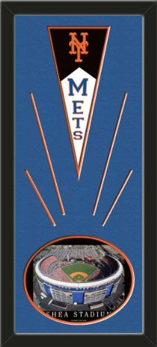 New York Mets Wool Felt Mini Pennant & Shea Stadium 2000 Photo - Framed With Team Color Double Matting In A Quality Black Frame-Awesome & Beautiful-Must For A Championship Team Fan! Most NFL, MLB, NBA, Teams Available-Plz Mention In Gift Message If Need A different Team Art and More, Davenport, IA http://www.amazon.com/dp/B00I05SC1G/ref=cm_sw_r_pi_dp_TLtEub0EAS39C