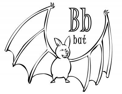 Halloween Time Abc Coloring Page For The Letter B Bat Abc