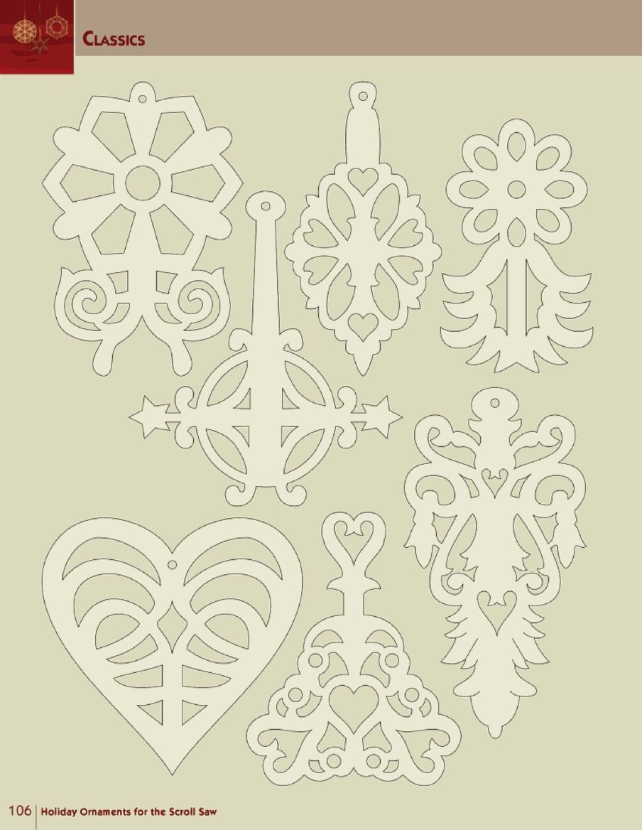 Holiday ornaments for the scroll saw woodworking pinterest