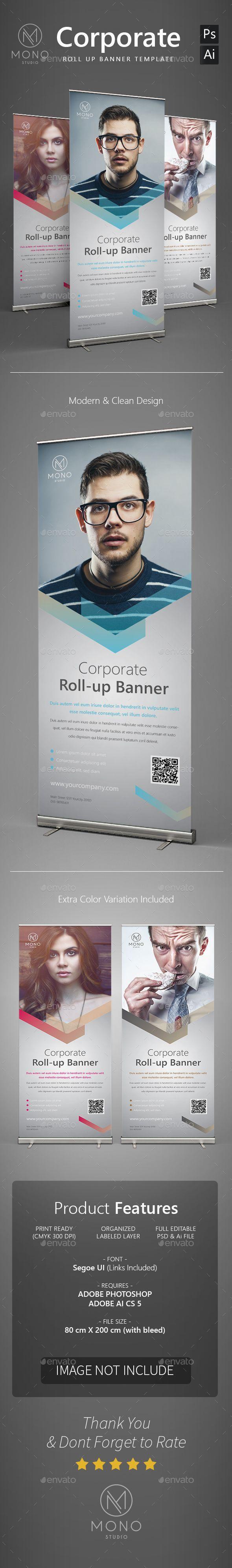 Corporate Roll Up Banner Vorlage Psd Vector Ai Design Herunterladen Graphicriver Ai Banner Banner Design Roll Up Design Brochure Design Inspiration