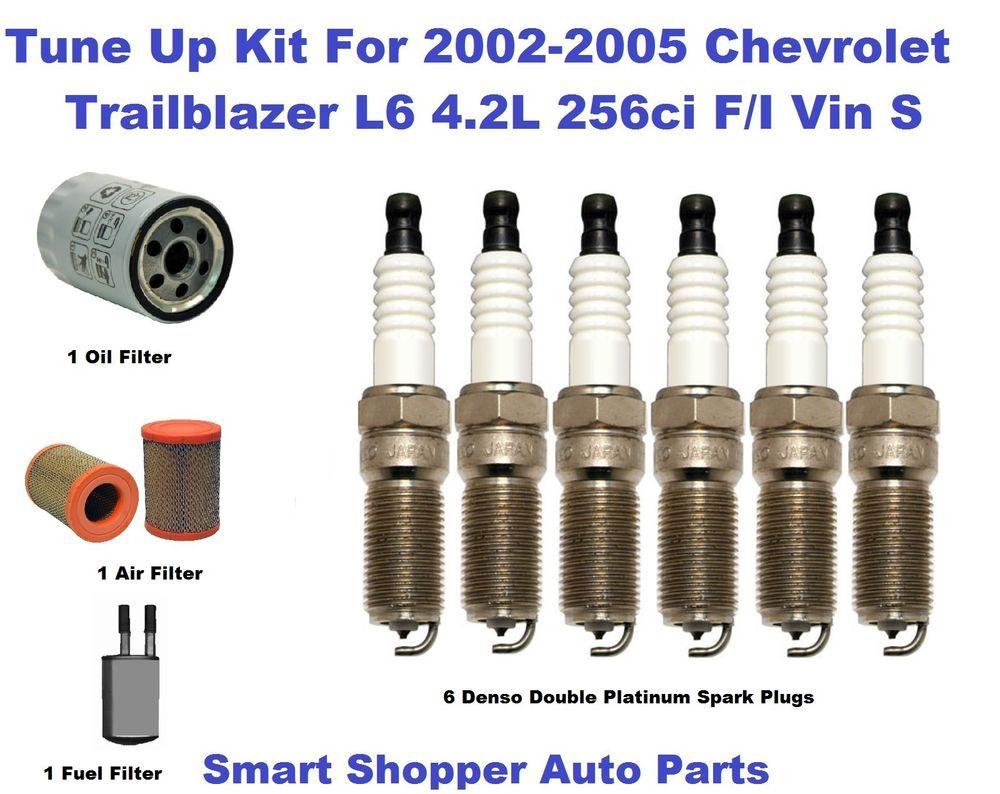 Tune Up Kit For 02-06 Chevrolet Trailblazer L6 Double Platinum Spark Plug  Filter