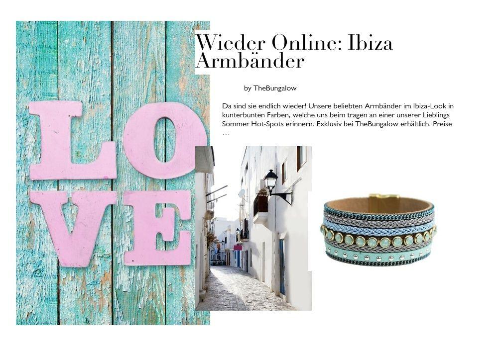 Wieder online: Ibiza Armbänder