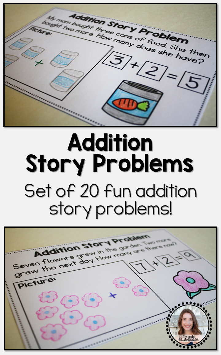 addition story problems volume one math amanda 39 s little learners math story problems. Black Bedroom Furniture Sets. Home Design Ideas