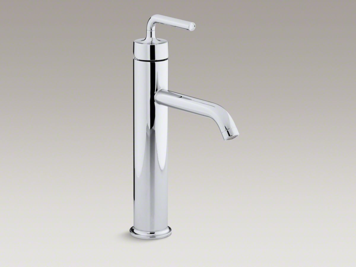 Product: Kohler Purist tall single-hole bathroom sink faucet with ...