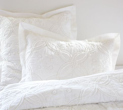 classic and simple for the master bedroom...Candlewick Quilt & Sham | Pottery Barn