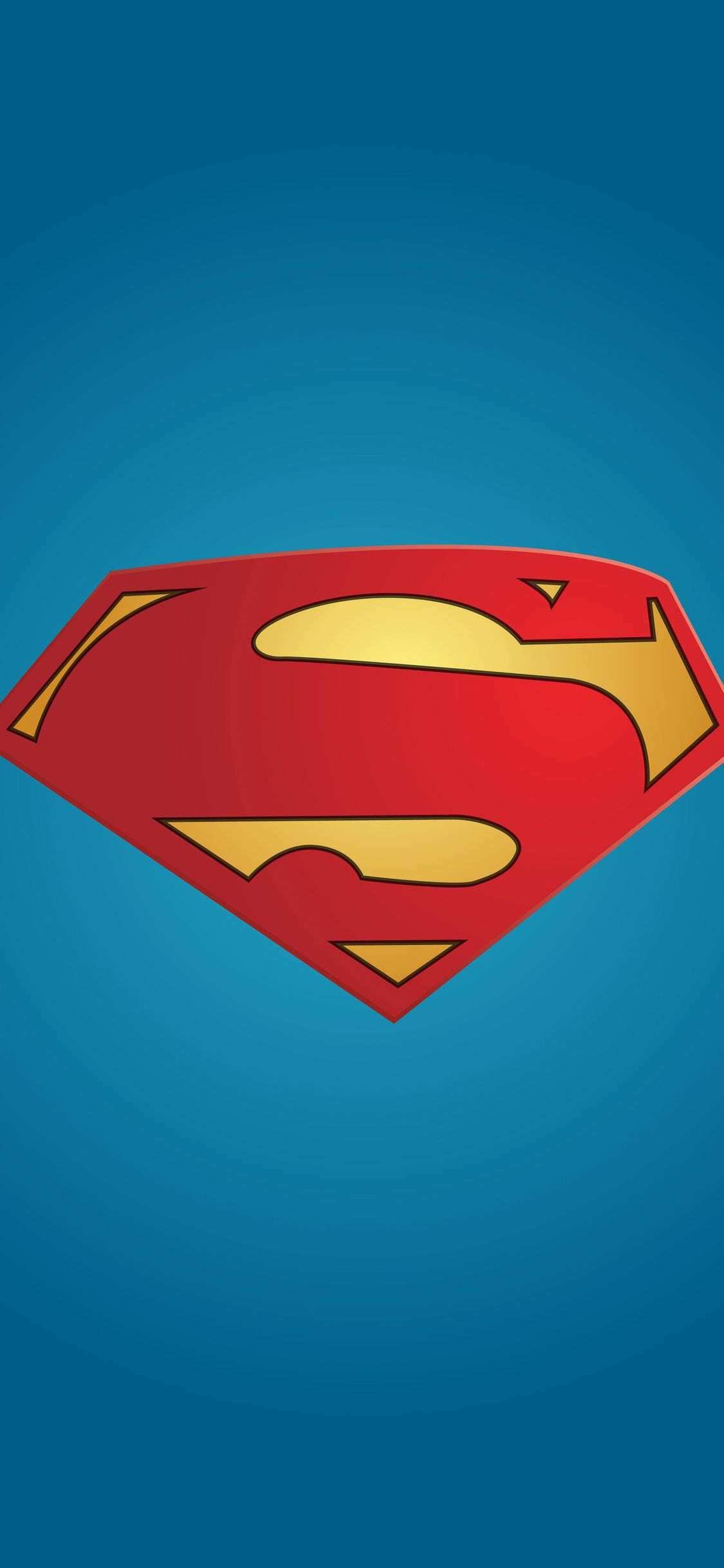 Superman Logo Minimal Iphone X With Images Superman Wallpaper