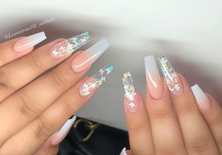 Butterfly Details Swag Nails Best Acrylic Nails Pretty Acrylic Nails