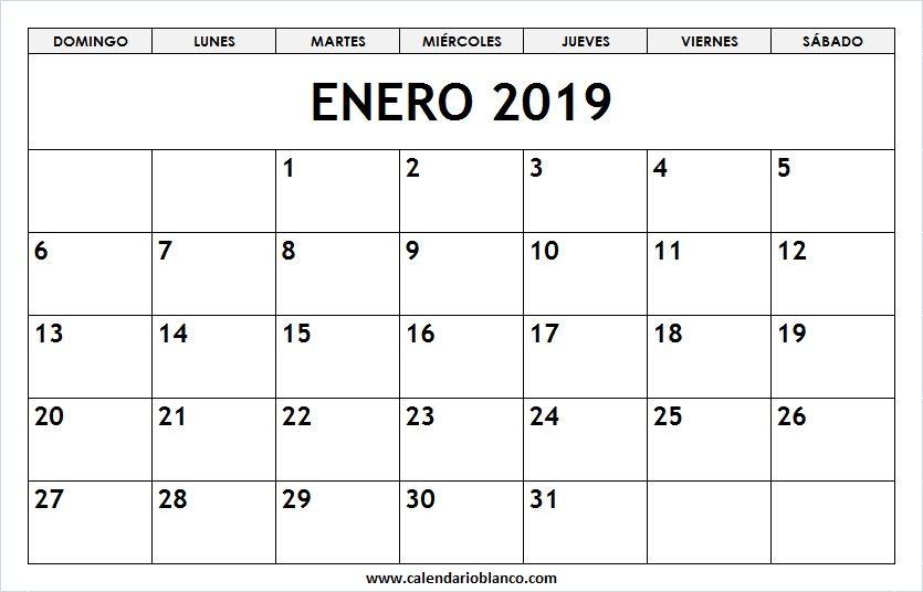 Calendario Enero 2019 Con Feriados Horario Scrapbook Y Curriculum