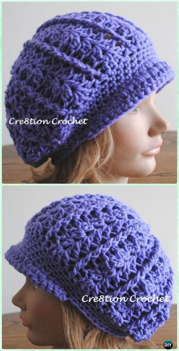 Crochet Women Sun Hat Free Patterns | Gorros, Tejido y Tapas
