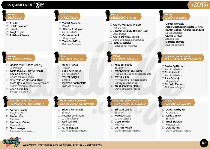 Quiniela goya 2015 walaly imprimible gratuito