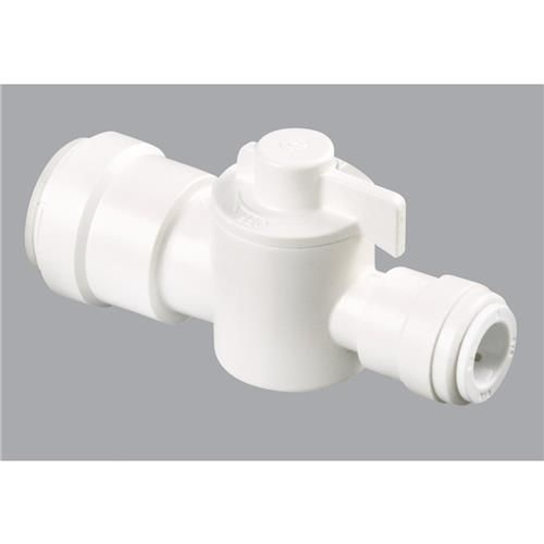Quick Connect Straight Stop Valve, Brown