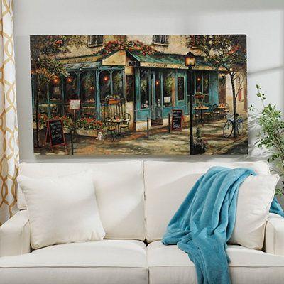 Product Details Corner Cafe Canvas Art Print Decor