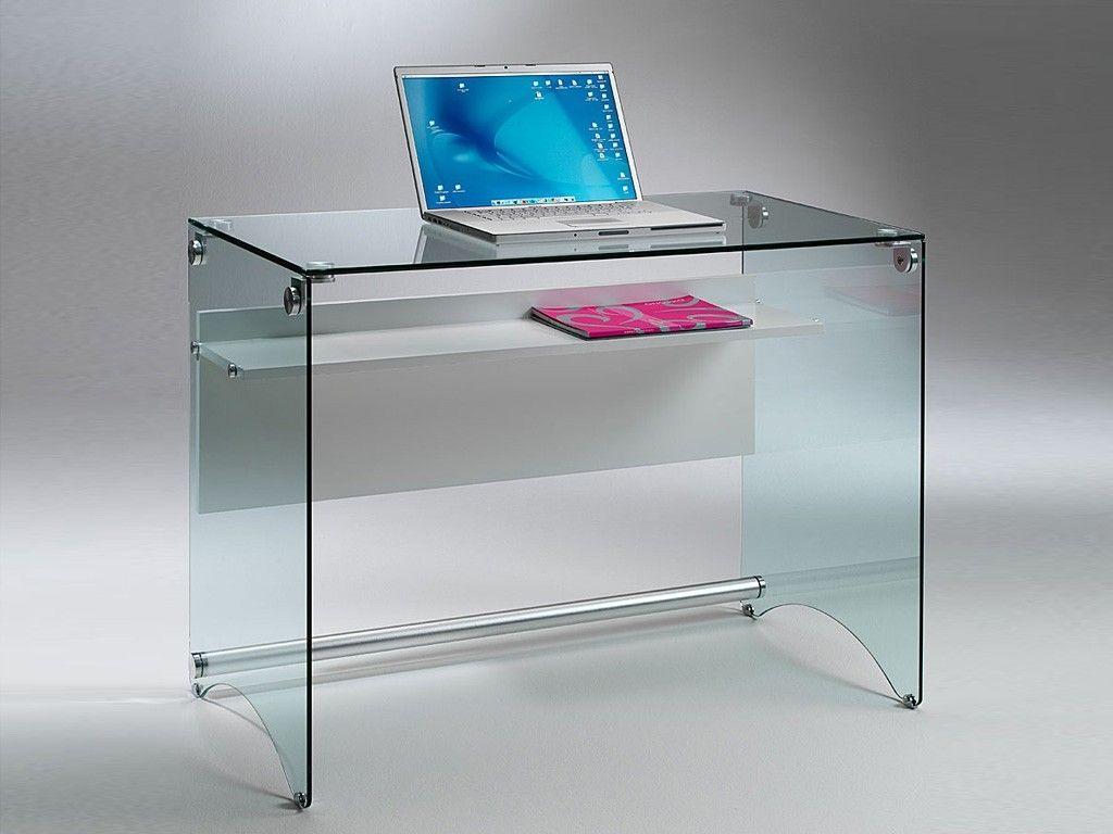 Scrivania per computer scrittoio in vetro scriba arredo ufficio