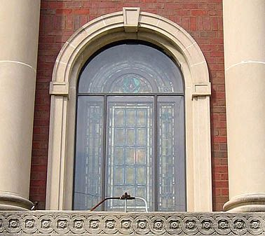 Arched Window With A Keystone Detail Arched Windows Arch Lighted Bathroom Mirror