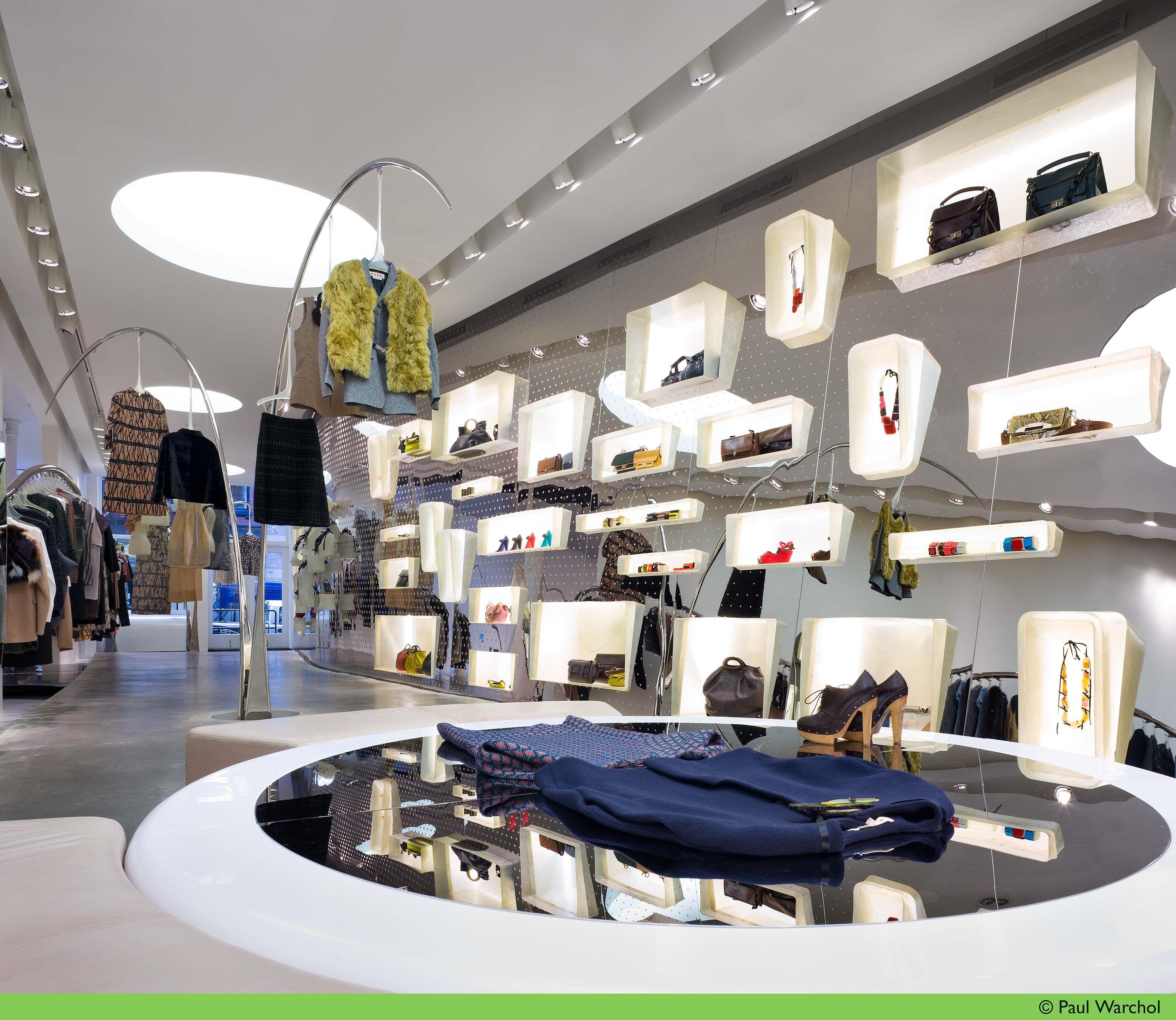 Store layout of marni soho new york city