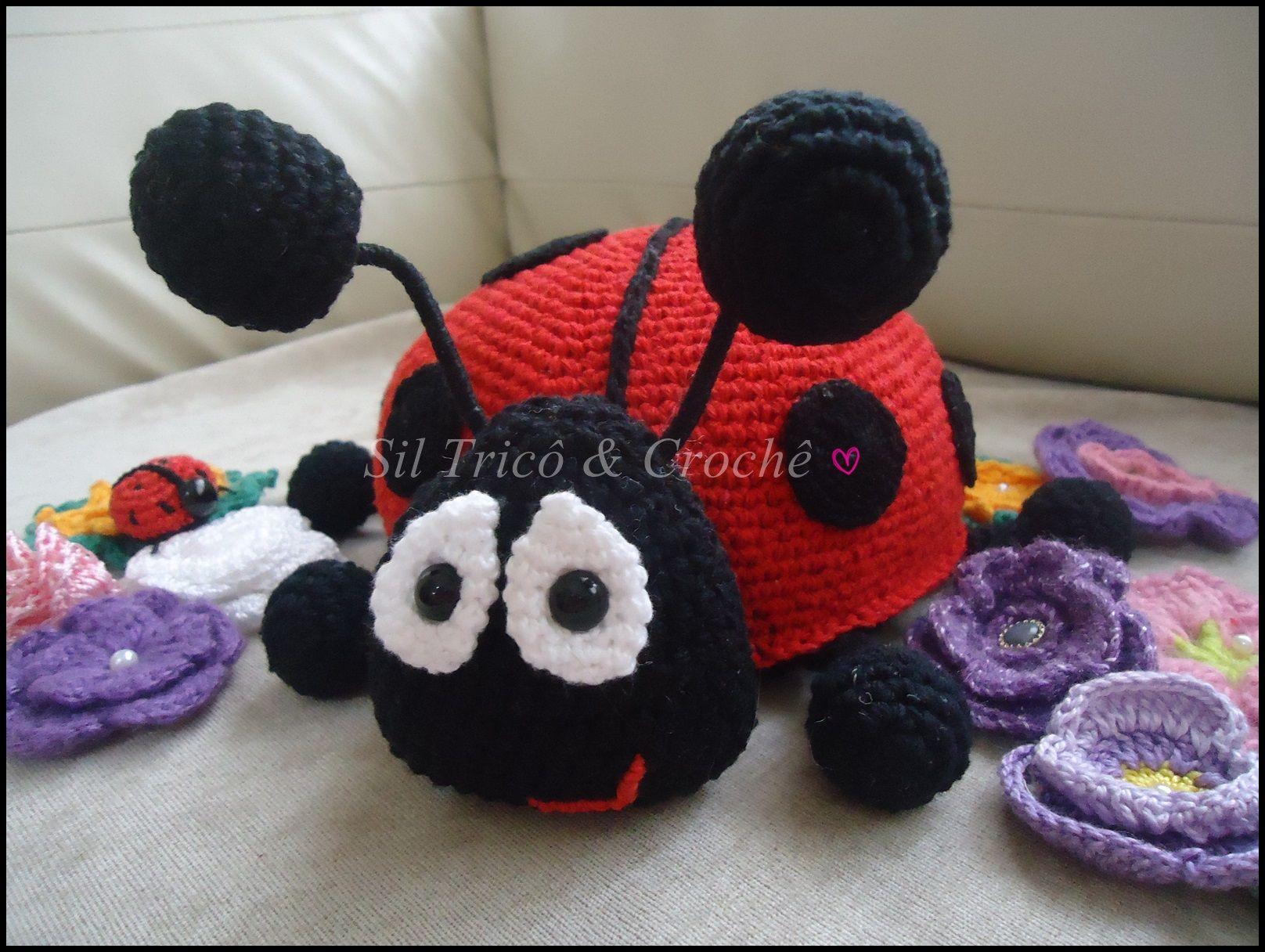 Amigurumi Oso Pijama : Joaninha peso para porta em crochê amigurumis crochet