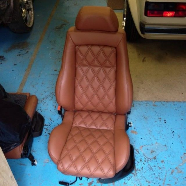 mk3 golf tan leather recaro interior for sale real tan leather with black diamond stitching. Black Bedroom Furniture Sets. Home Design Ideas